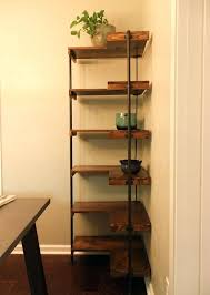 Corner Shelf Unit Rustic Industrial Free Standing Shelves For Dining Room Kitchen Wall