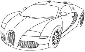 Best Car Sport Bugatti Veyron Coloring Page