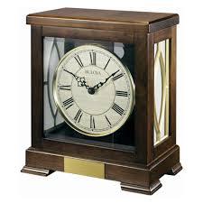 Bulova Table Clocks Wood by Amazon Com Bulova Victory Mantel Chime Clock B1653 Home U0026 Kitchen