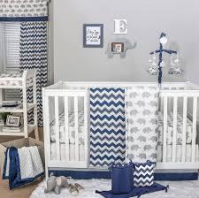 Navy And Coral Crib Bedding by Amazon Com Navy Chevron And Grey Elephant 5 Piece Baby Crib