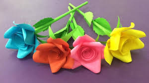 How To Make Rose Flower With Paper