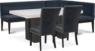 100 Black Leather Side Dining Chairs Artemis Table Corner Banquette And 2 Upholstered