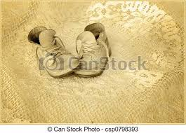 Antiqued Baby Shoes Photo