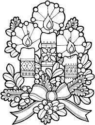 Christmas Holiday Candle Coloring Pages HD