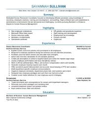 Hr Coordinator Resume Example | Human & Resources Sample ...