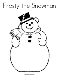 Frosty The Snowman Coloring Page Print This