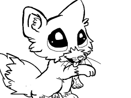 Free Printable Online Stylish Ideas Baby Fox Coloring Pages Cute Page