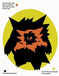 Easy Pokemon Pumpkin Carving Patterns by Geeky Pumpkin Carving Templates The Nifty Nerd