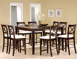 Casual Dining Room Design With Pryor Butterfly Leaf Counter Height Table 9 Piece Cappuccino