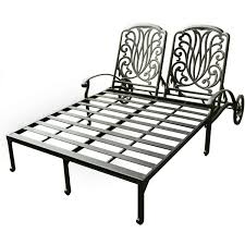 Darlee Elisabeth Cast Aluminum Patio Double Chaise Lounge Fniture Incredible Wrought Iron Chaise Lounge With Simple The Herve Collection All Welded Cast Alinum Double Landgrave Classics Woodard Outdoor Patio Porch Settee Exterior Cozy Wooden And Metal Material For Lowes Provance Summer China Nassau 3pc Set With End Nice Home Briarwood 400070 Cevedra Sheldon Walnut Cane Rolling Chair C 1876