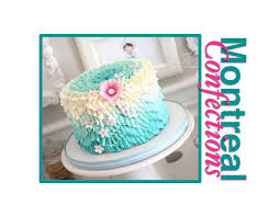 How to make a chevron pattern on a cake Ombre Ruffle Cake