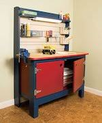 kids workbench plans free woodworking plans and information at