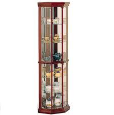 furniture cherry corner curio cabinet ikea with pretty shelves