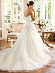 classic princess a line sweetheart organza sequin beaded wedding