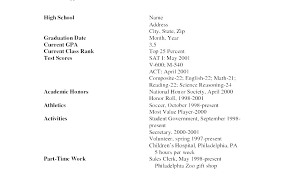 High School Resumes Examples Resume Sample For Student Jobs First Job
