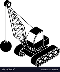 Demolish Truck Icon Simple Style Royalty Free Vector Image