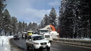 Caltrans Snow Blower Loading Dump Truck In South Lake Tahoe - YouTube