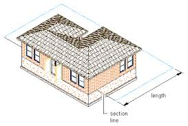 to draw a section line and marks autocad architecture autodesk