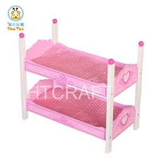 tb050 wholesale butterfly wooden doll bunk bed with mattress doll