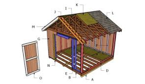 10x12 barn shed plans howtospecialist how to build step by
