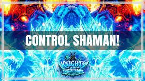 hearthstone control shaman overload frozen throne youtube