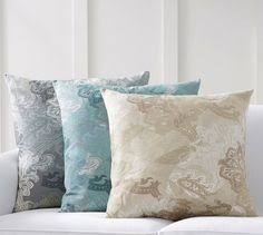Pottery Barn Large Decorative Pillows by Tan Color For On Sofa With New Oushak Pillows From Rh Large Throw