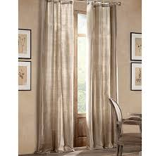 Restoration Hardware Curtain Rod Extension by Thai Silk Tonal Stripe Drapery
