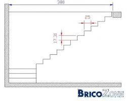 calcul escalier quart tournant