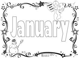 Ideas Of Printable Coloring Pages For January With Additional Form