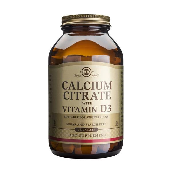 Solgar Calcium Citrate with Vitamin D3 Dietary Supplement - 240 Tablets