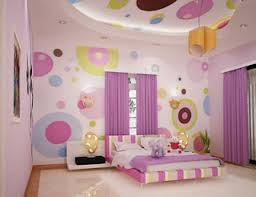 pink themed diy room design with modern line pattern bed
