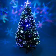 Green Fibre Optic Christmas Tree With Baubles LEDs Garden Trends