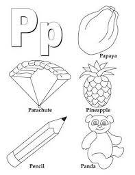 Marvelous Letter P Coloring Pages 3
