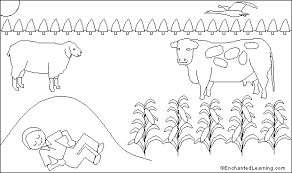 Little Boy Blue Coloring Page 12 Printout