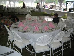 Seen In Photo 120 White Tablecloth 72 Round Table Padded Chairs