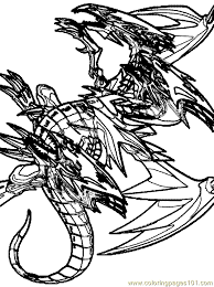Blue Eyes Ultimate Dragon Coloring Page