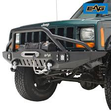 100 Front Bumpers For Trucks Amazoncom EAG Bumper With LED Lights For 8301 Jeep Cherokee