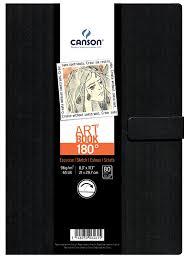 Amazon Canson 180° Art Book Hardbound 8 3X11 7
