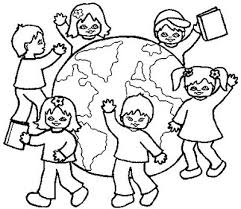 Kids Coloring Pages Children Of The World