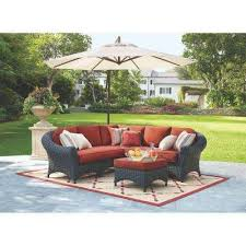 COPY 1 Lake Adela 4 Piece Charcoal All Weather Wicker Patio Sectional Set with