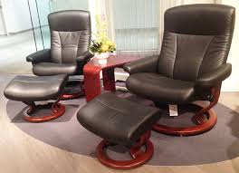 Ekornes Stressless President Large And Medium Recliner Chair Lounger