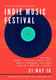 Vinyl Indie Music Festival Concert Poster