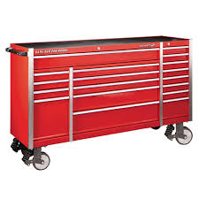 72 In. X 22 In. Triple Bank Roller Cabinet - Red