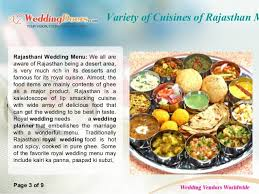 cuisines of variety of cuisines of rajasthan marriage