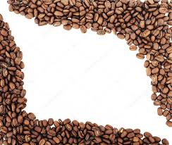 Coffee Beans Border Isolated On White Background Roasted Can Be Used As A Photo By AZZ