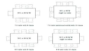 Standard Dining Table Dimensions Typical Room S