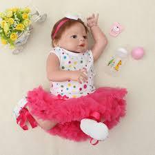 Qoo10 22 Handmade Lifelike Baby Girl Doll Silicone Vinyl Reborn