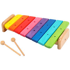 100 Home Made Xylophone Wooden Large Rainbow Toy