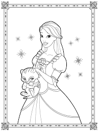 Free Barbie Ballerina Coloring Pages Excellent Princess Page With The Pearl
