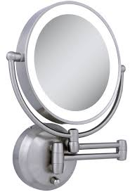 wall ideas mounted lighted makeup mirror see larger with